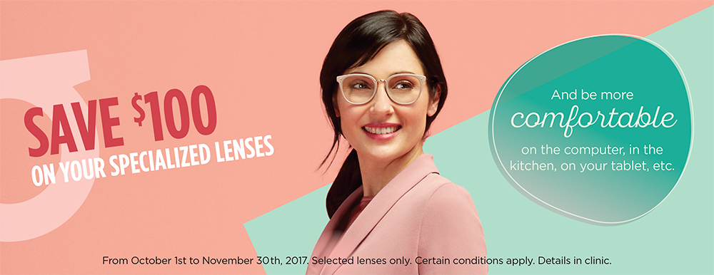 promotions on glasses at clinique d'optometrie st-joseph, optometrists and opticians in montreal